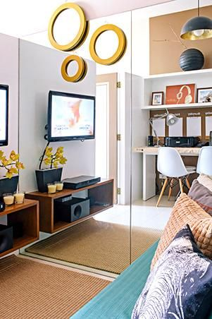 Small Space Ideas For A 48sqm Condo Small Living Pinterest Extraordinary 2 Bedroom Apartments Dubai Ideas Painting