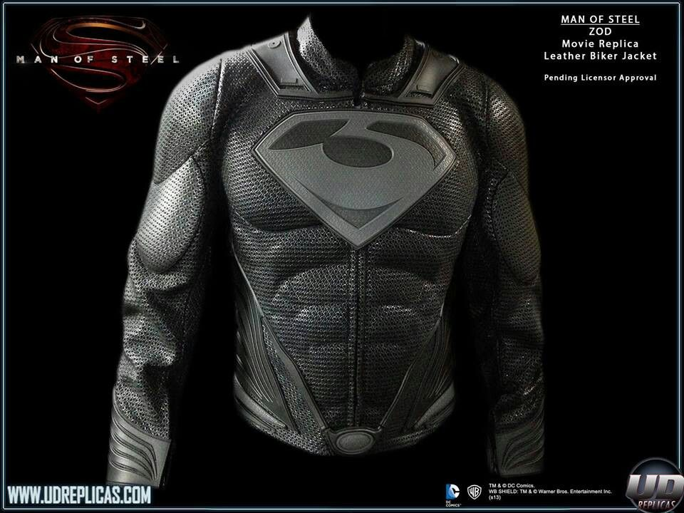Man of Steel Zod Leather Jacket Jackets, Bike clothes