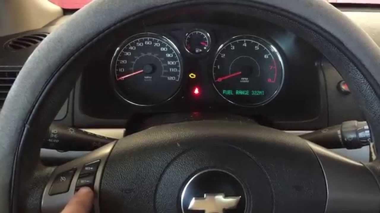 How To Reset Oil Life On Chevy Cobalt Chevy Cobalt Chevrolet Cobalt Oil Light