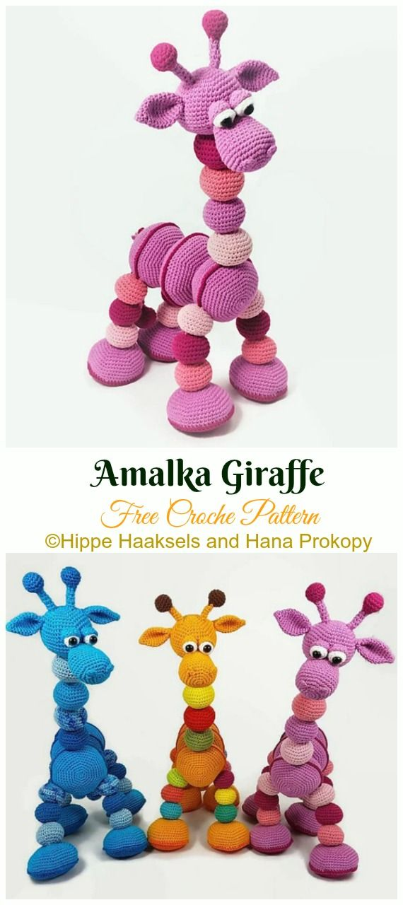 Amigurumi Giraffe Toy Free Crochet Patterns #crochetamigurumifreepatterns