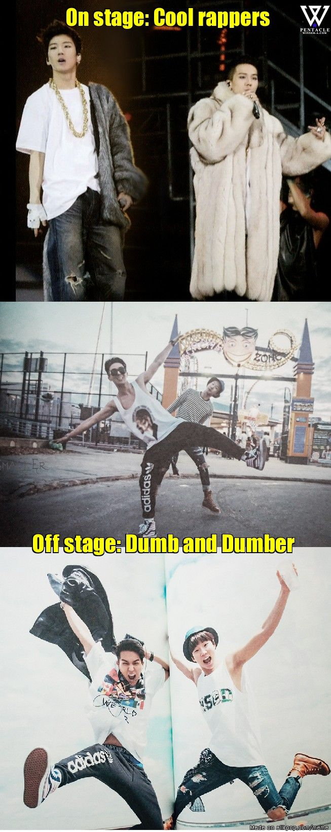 One can't live without the other XD Kpop