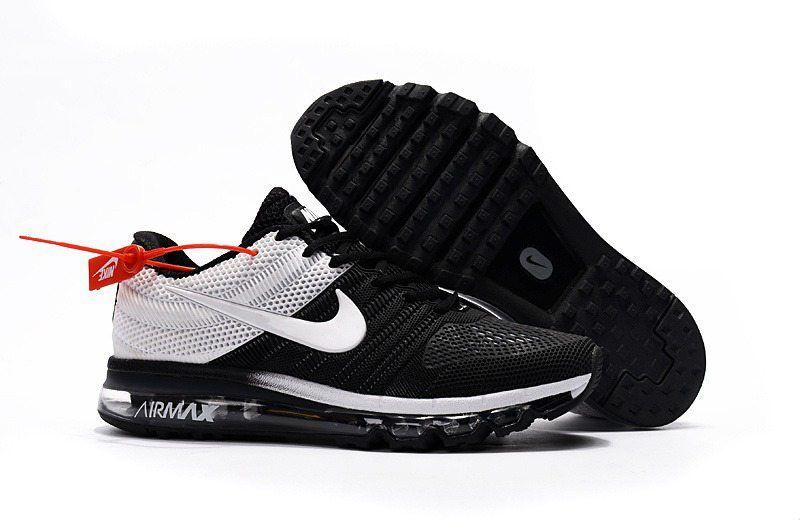 9f7338ae72a0 Nike Air Max 2017 +3 Men Black White