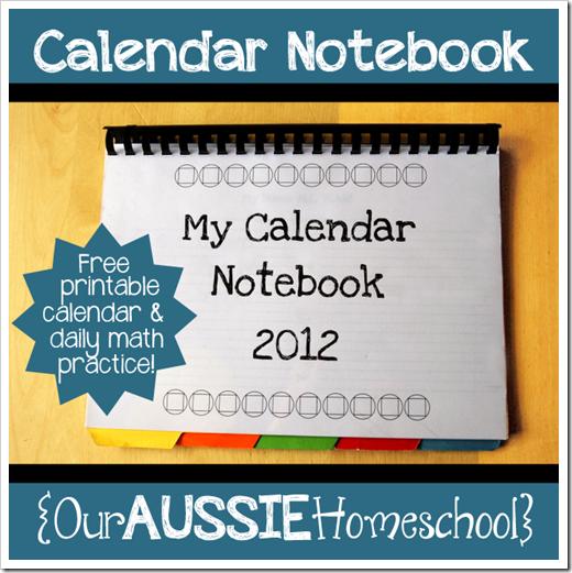 Nuestra Aussie Homeschool - Free Calendar Portátil con blanco y ...