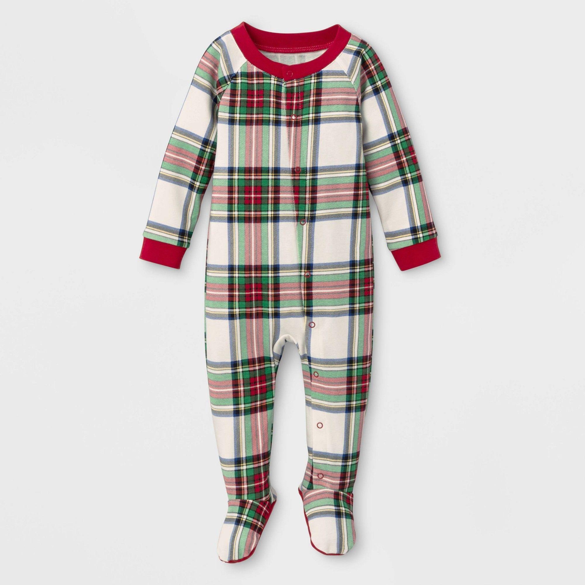 Baby Plaid Holiday Tartan Flannel One Piece Pajama