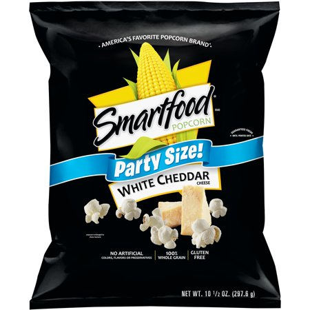Smartfood White Cheddar Cheese Popcorn Party Size 10 5 Oz Bag Cheese Popcorn White Cheddar Cheese White Cheddar