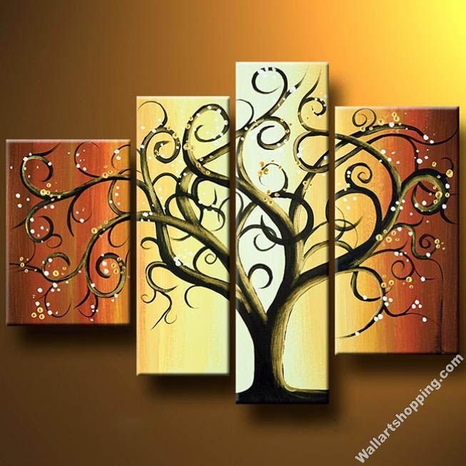 Abstract+Wall+Art | ... -Tree-Modern-Canvas-Art-Wall-Decor-Abstract ...