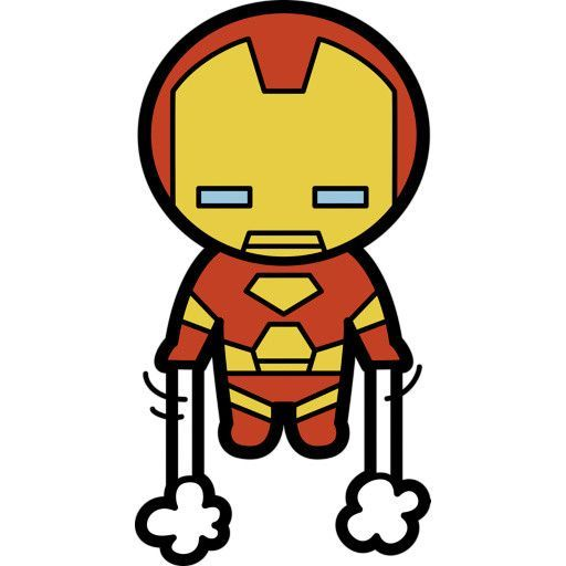 Kawaii Iron Man Fathead Desenhos De Super Herois Desenho