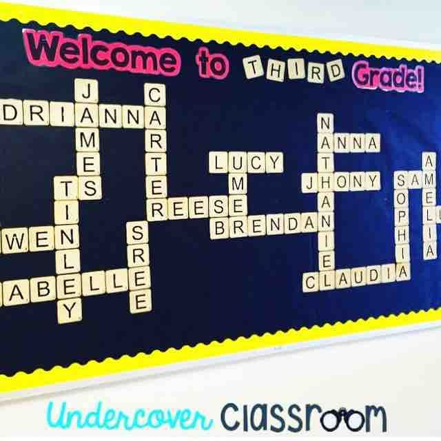 Back to school welcome bulletin board by for Back to school board decoration