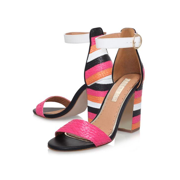 f4c0fc12c35 Ebony Multi-coloured High Heel Sandals By Miss Kg