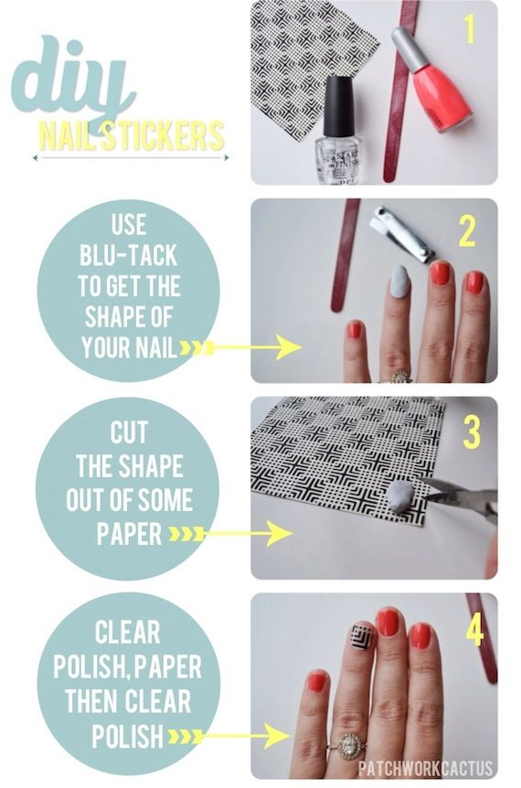 Diy Nail Stickers using paper | Pinterest | Tutorial nails, Nail ...