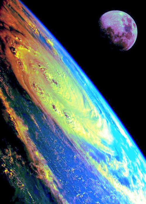 Storm clouds from space.