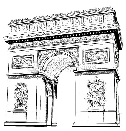 Arco del Triunfo modelo de papel - Juguetes de papel gratis y ...
