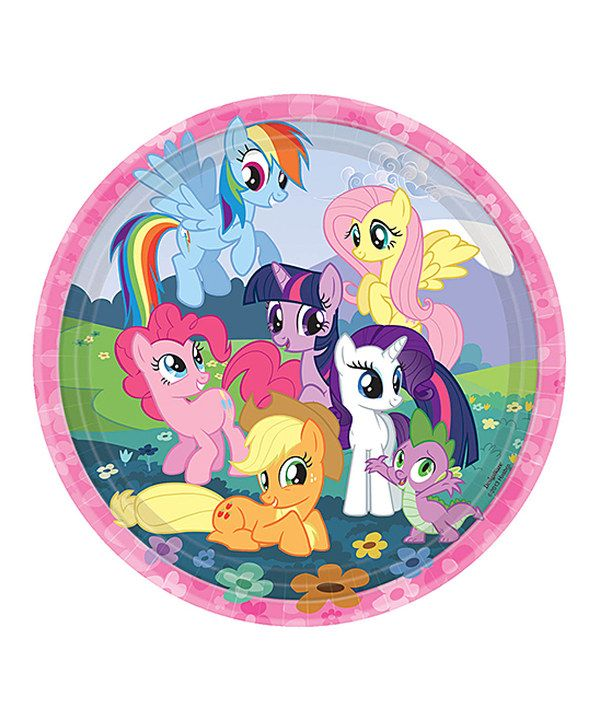My Little Pony Big Plate - Set of 16 by Amscan #zulily #zulilyfinds