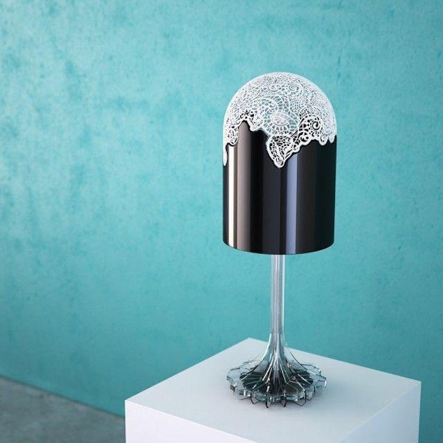 3d Printed Laces Lamp Lace Lamp Furniture Design Table Lamp