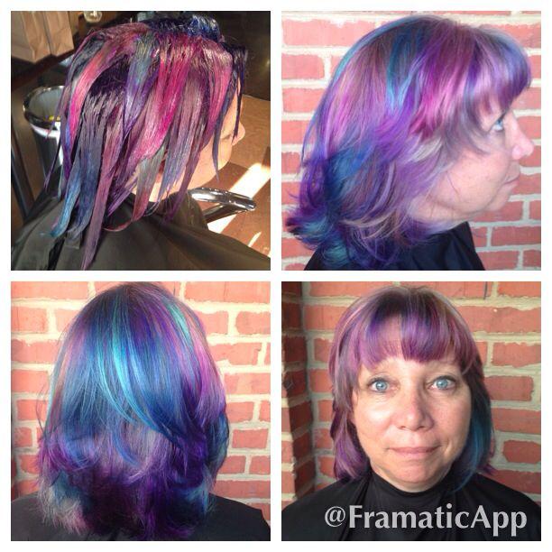 Sandart haircolor using pravana vivids and Pravana neons done at the junction salon by Megan perry