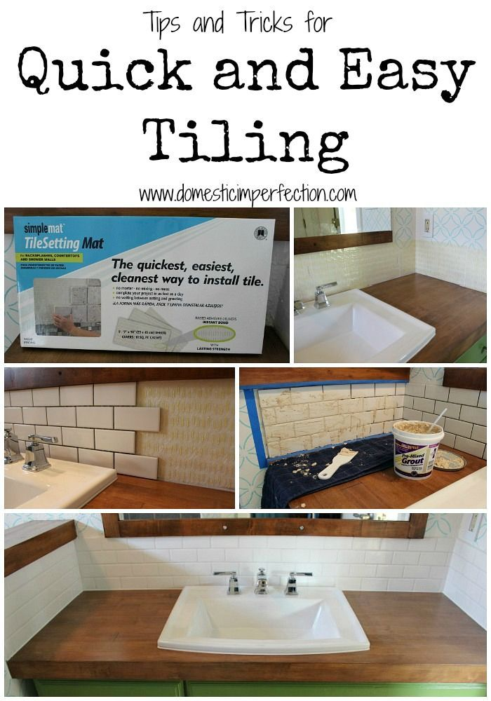 The Easiest Way To Tile A Backsplash Tile Ideas Kitchens And - Easy bathroom tiles