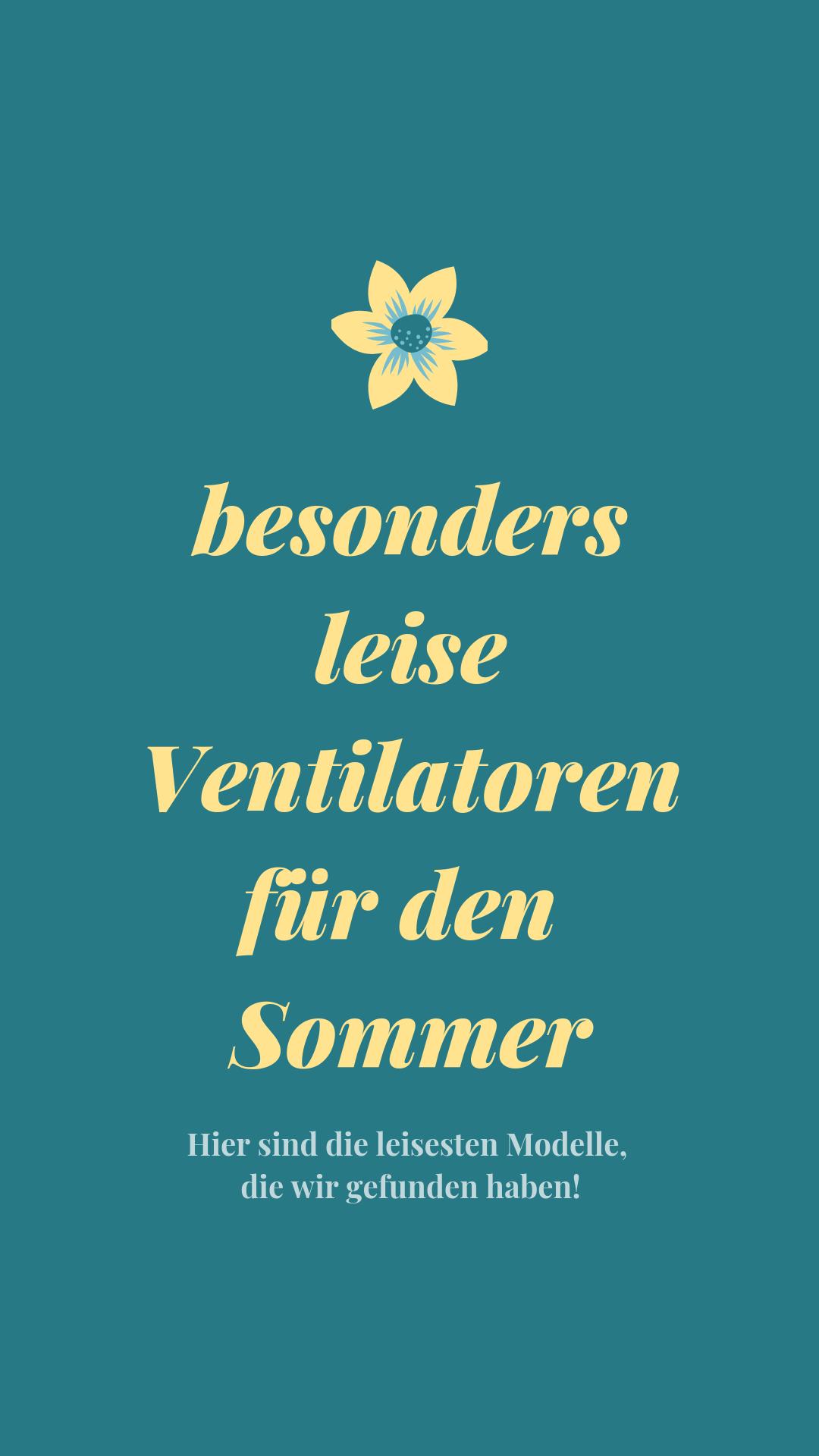 Ventilatoren Sind Tolle Hilfen Im Sommer Doch Ein Lautes Drohnen Oder Rauschen Wird Mit Der Zeit Nervig Daher Habe Ventilator Tischventilator Haushalts Tipps