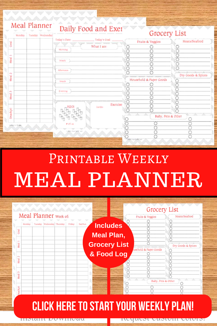 Ready To Start Meal Planning This Weekly Meal Planner Includes A