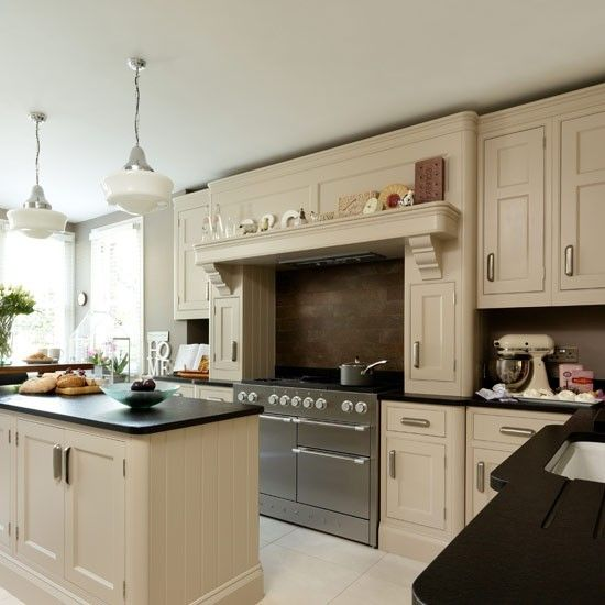 New Traditional Kitchens Grey And Cream Beige And Cream