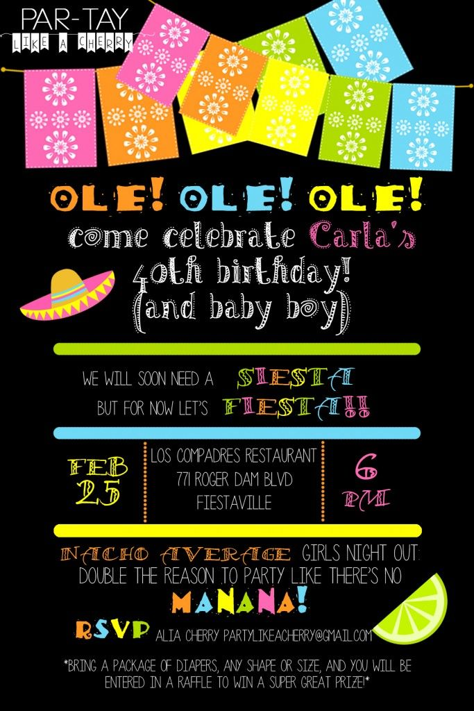 Free Editable Fiesta Invitation | Fiesta invitations, Mexican ...