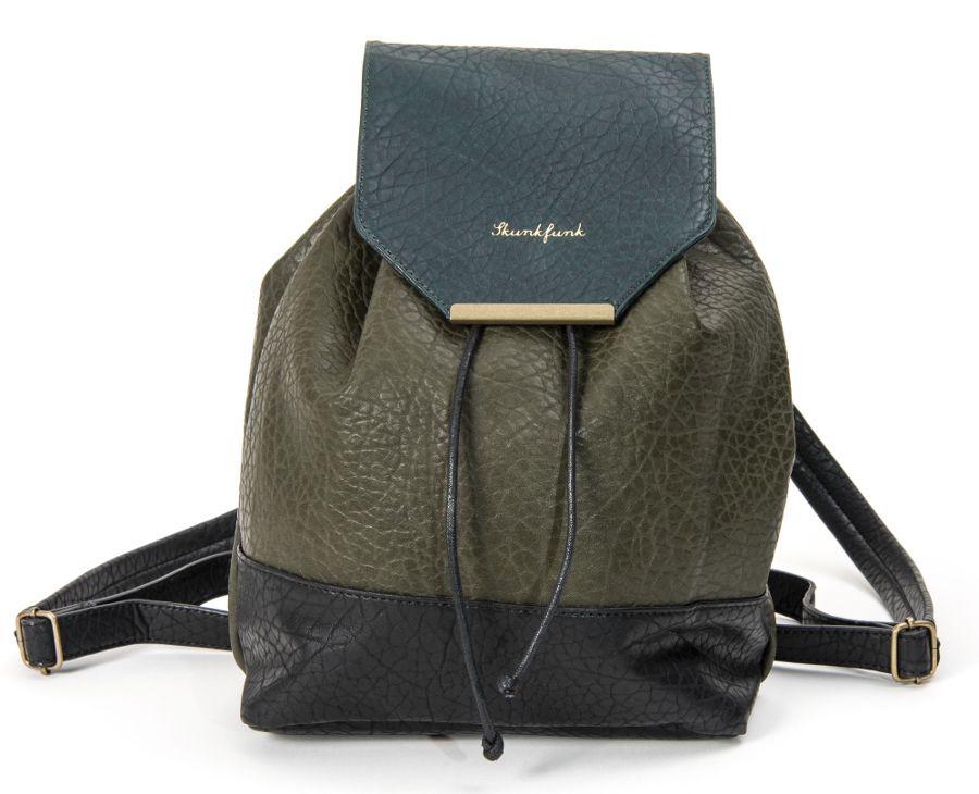 Backpack Skunkfunk Leather Green Vegan Raim yYgf6b7