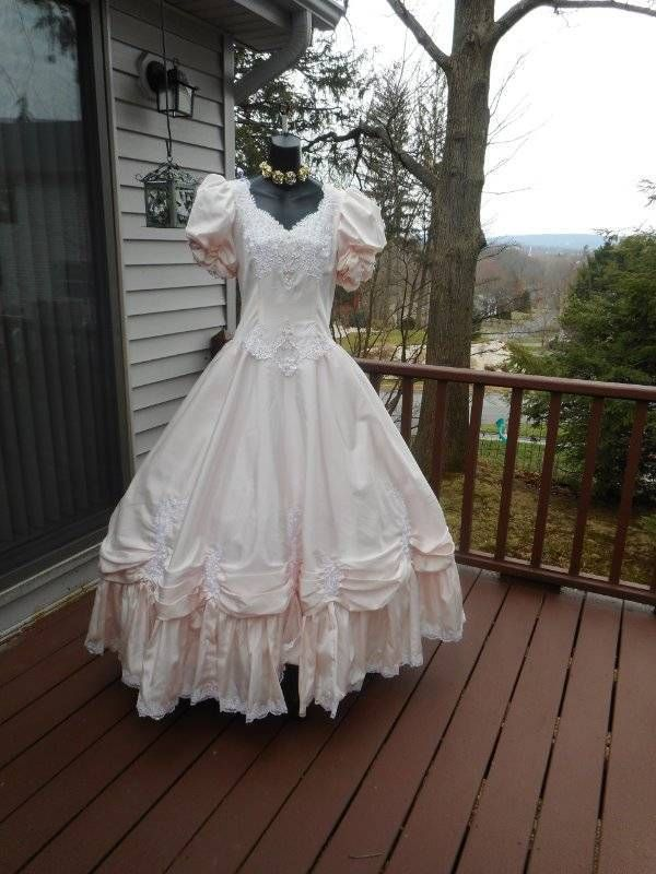 Rare Plus Size 80s Prom Dress Pink Rental Only Tagged Size 20 Best