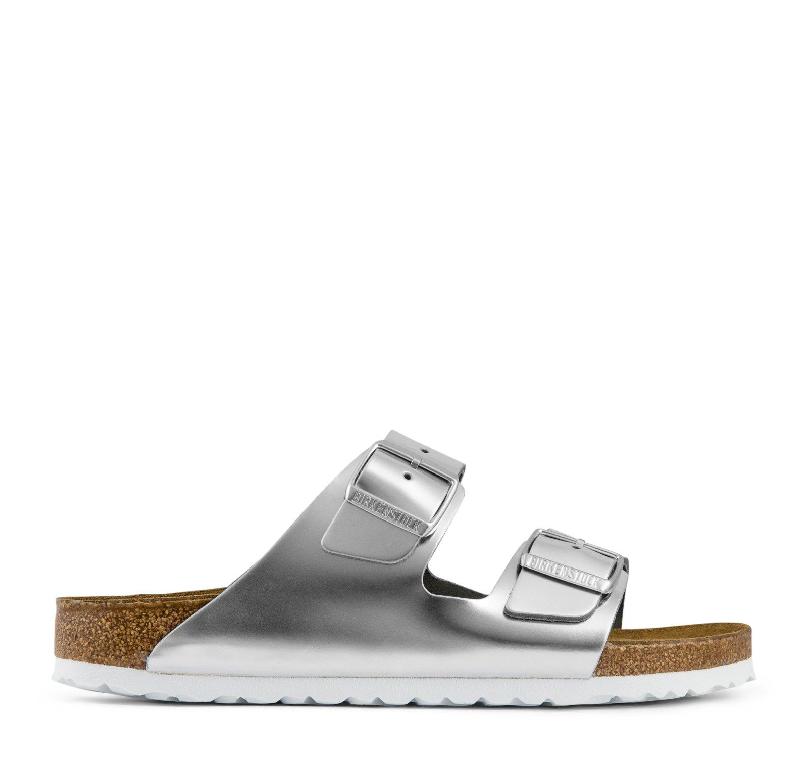 7cfa5d362 Birkenstock Arizona Soft Footbed Women s - Metallic Silver ...