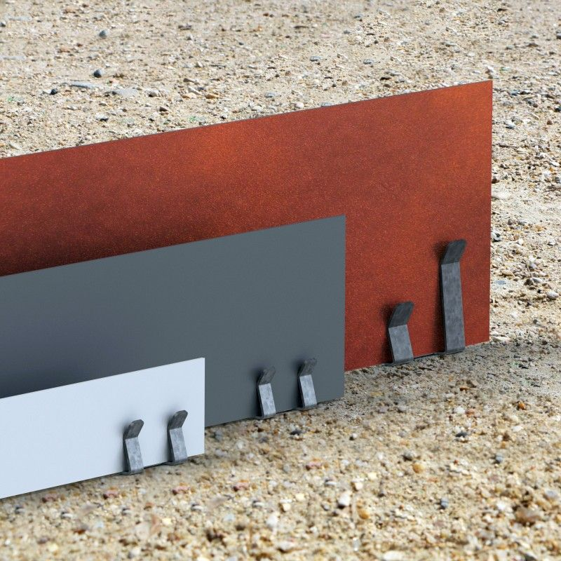 Bordure acier corten aspect fer oxyd rouille long for Bordure jardin acier corten