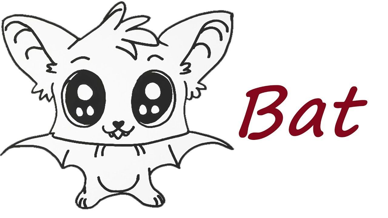 How To Draw A Cute Bat Easy Step By Simply Lessons You