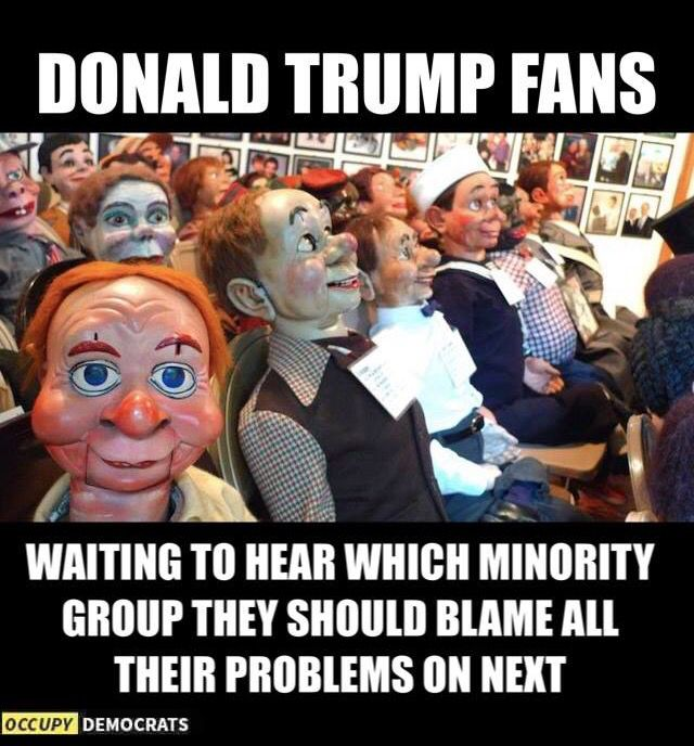 Image result for told which minorities to hate trump meme