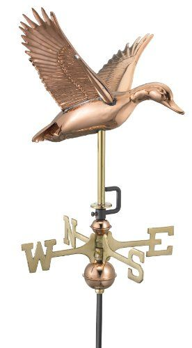 Amazon Com Good Directions 8844pr Flying Duck Garden Weathervane With Roof Mount Polished Copper Home Improvement Good Directions Copper Roof Weathervanes