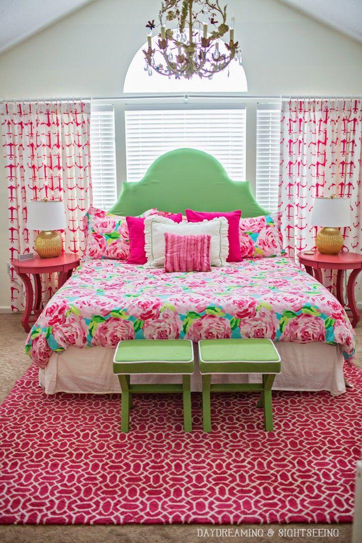 lilly pulitzer first impression bedding roses bedroom. Black Bedroom Furniture Sets. Home Design Ideas
