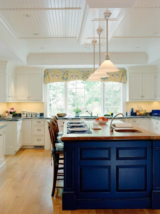 island - houzz.com   Kitchen Ideas   Pinterest   Houzz, Ceiling and ...