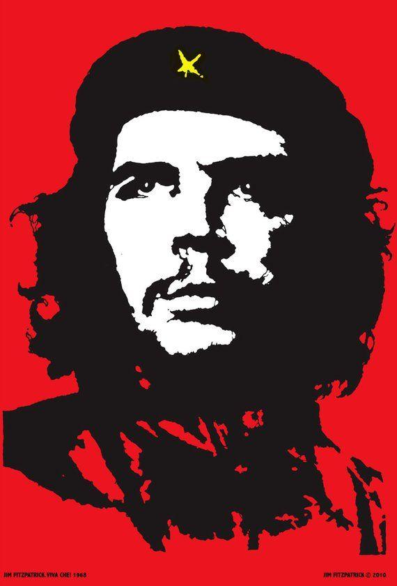 Viva Che 1968 Poster Print 36x24 Pop Art Vintage Art Etsy Che Guevara Art Poster Prints Jim Fitzpatrick