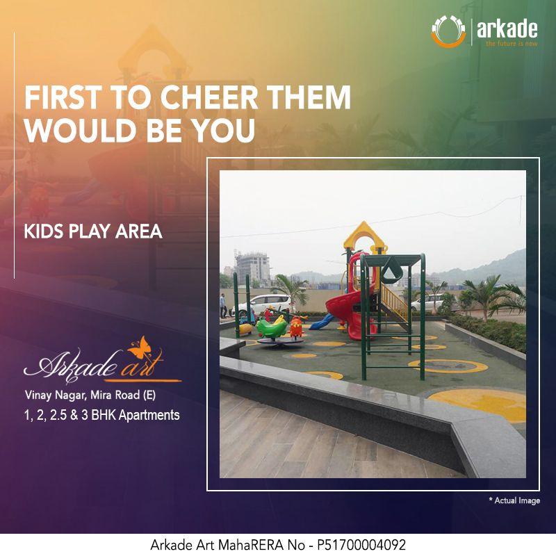 Arkade Art Vinay Nagar Mira Road 1 2 2 5 3 Bhk Apartments Maharera No P51700004092 Actual Image Kids Play Are With Images Kids Play Area Children Images Mira