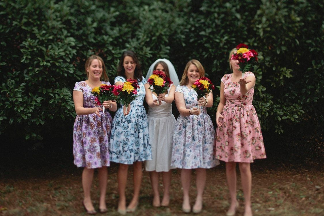 Vintage floral bridesmaid dresses cocktail dresses 2016 vintage floral bridesmaid dresses ombrellifo Image collections