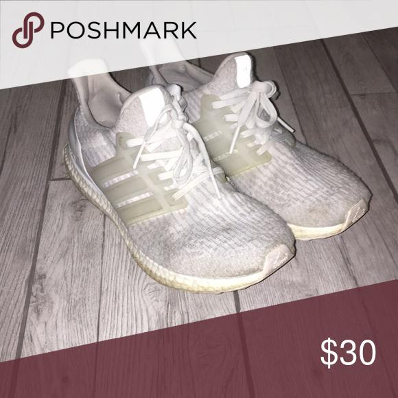 fac0c4cdf38e2 White women s Adidas Ultraboost sneakers