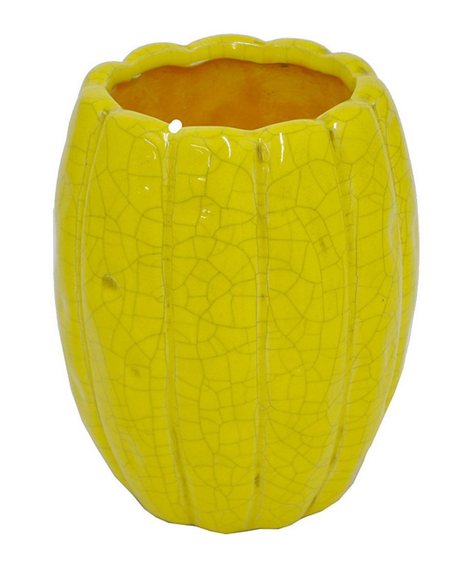 This Yellow Ceramic Flower Pot By Three Hands Corporation Is Perfect