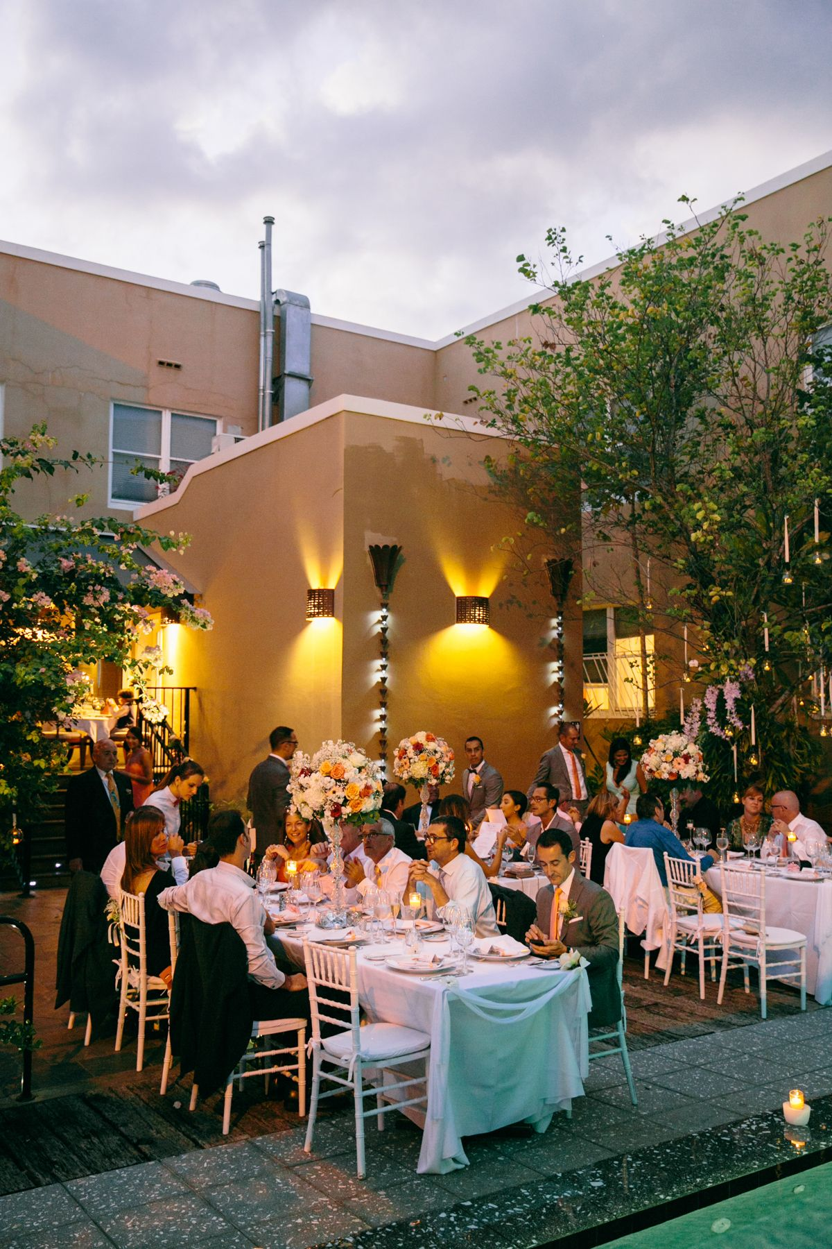 south beach boutique hotel wedding reception photo by