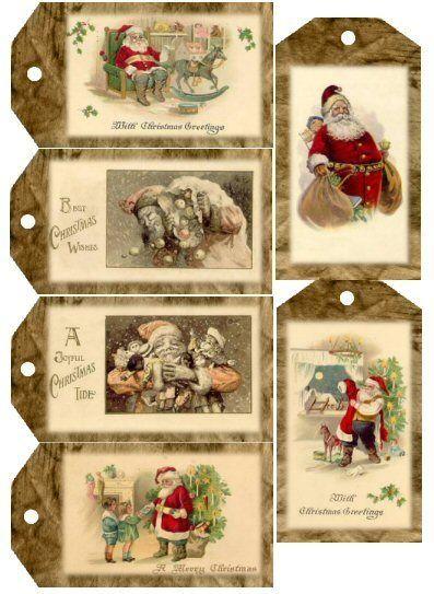 foto de Jolies étiquettes pour Noël vintage à télécharger (avec images ...
