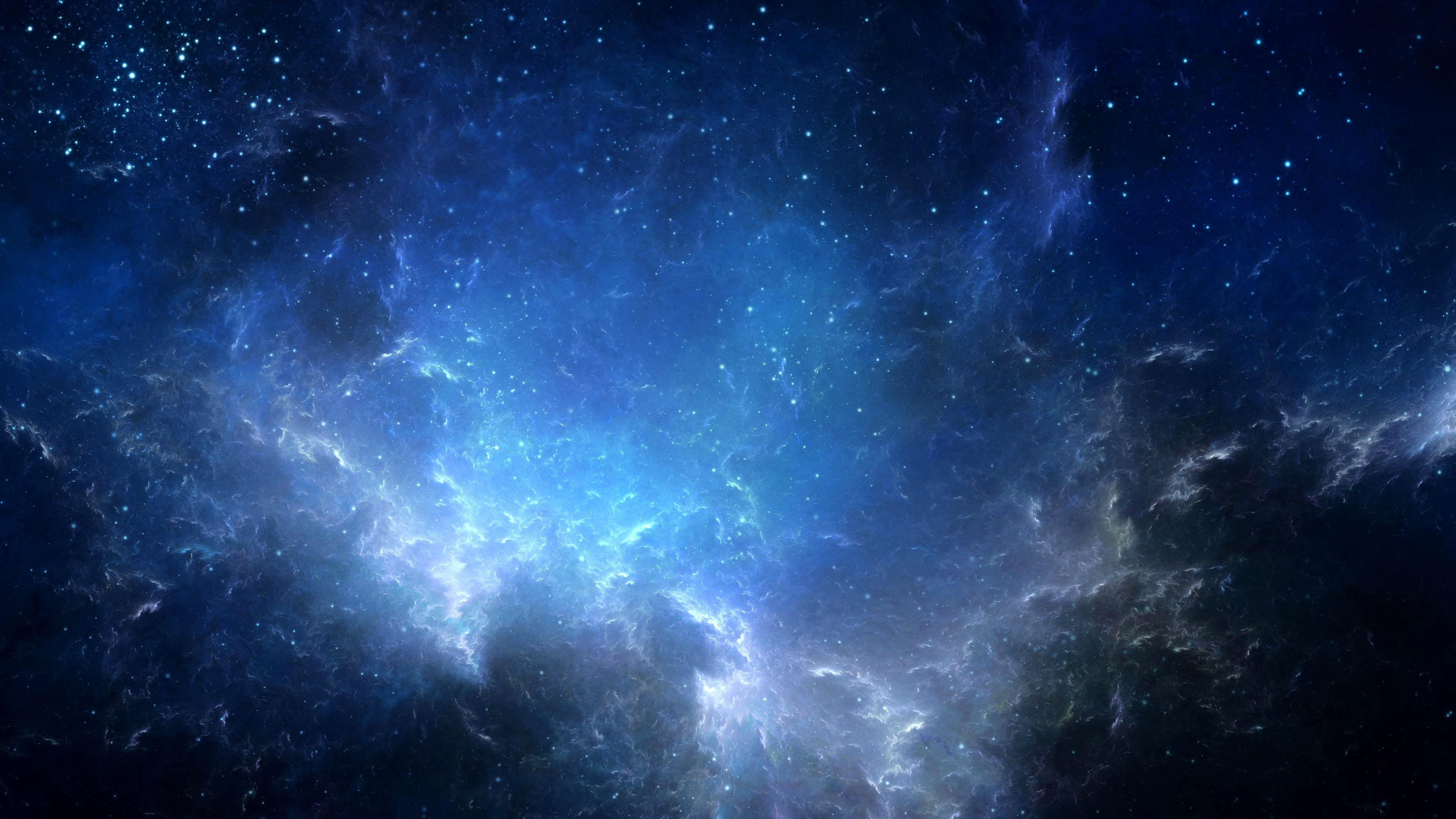 4k Wallpaper Of Space Trick Nebula Langit