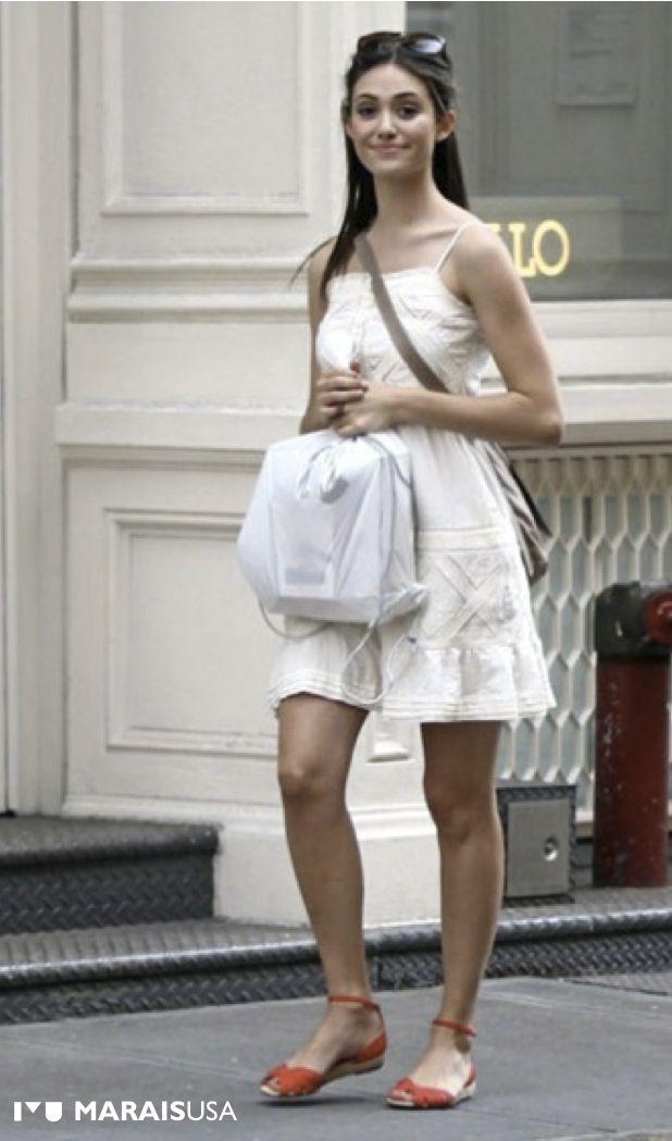 Emmy Rossum sporting the Espadrille Sandal.