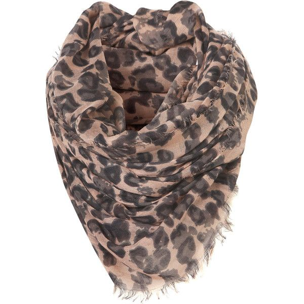 Leopard Scarf ($32) ❤ liked on Polyvore featuring accessories, scarves, gray scarves, pink scarves, gray shawl, viscose scarves and leopard print shawl