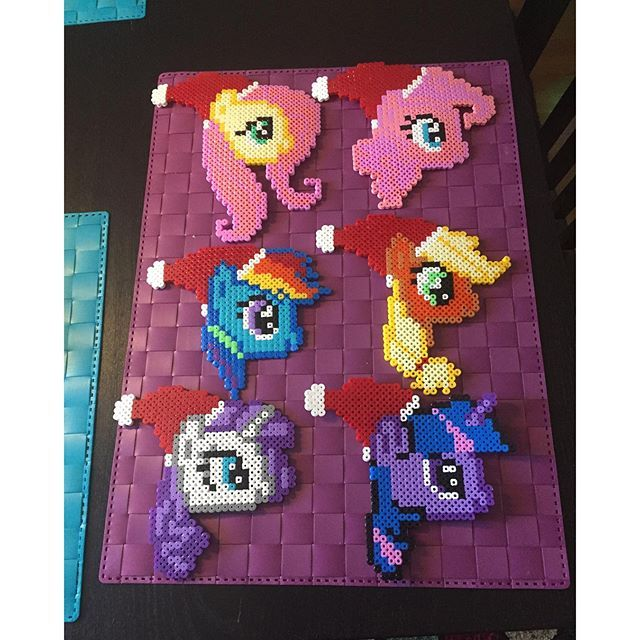 Christmas My Little Pony hama beads by arsenikfika