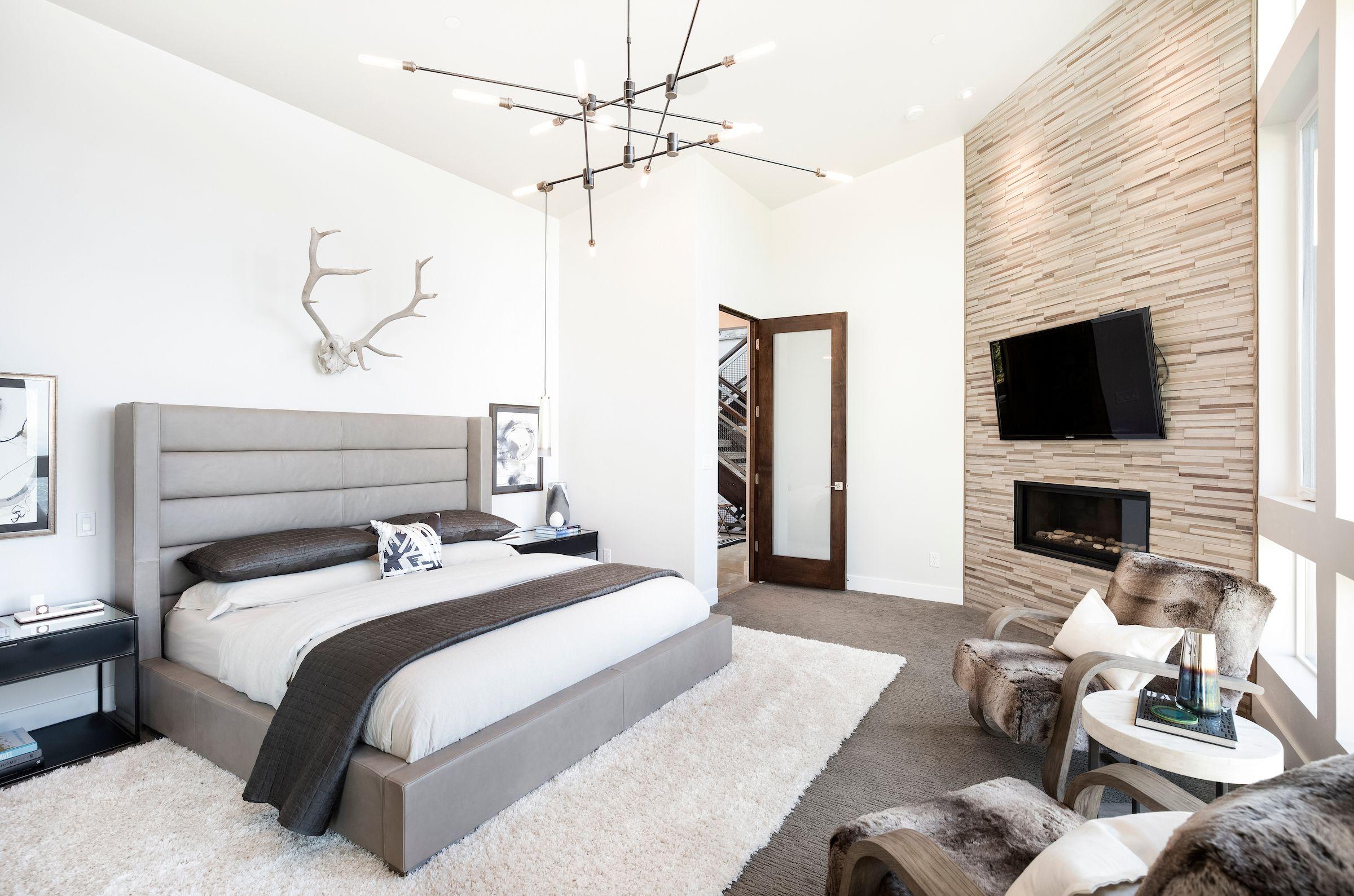 contemporary master bedroom. designedezra lee design