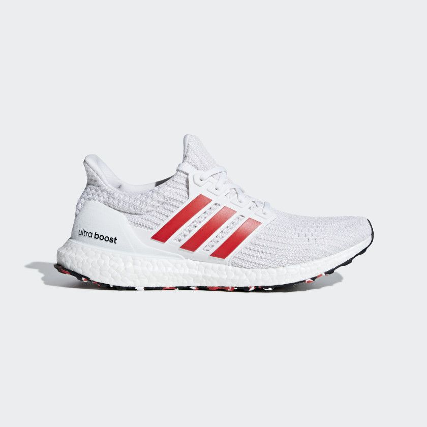 96810f2e2 Ultraboost Shoes Cloud White   Active Red   Chalk White DB3199