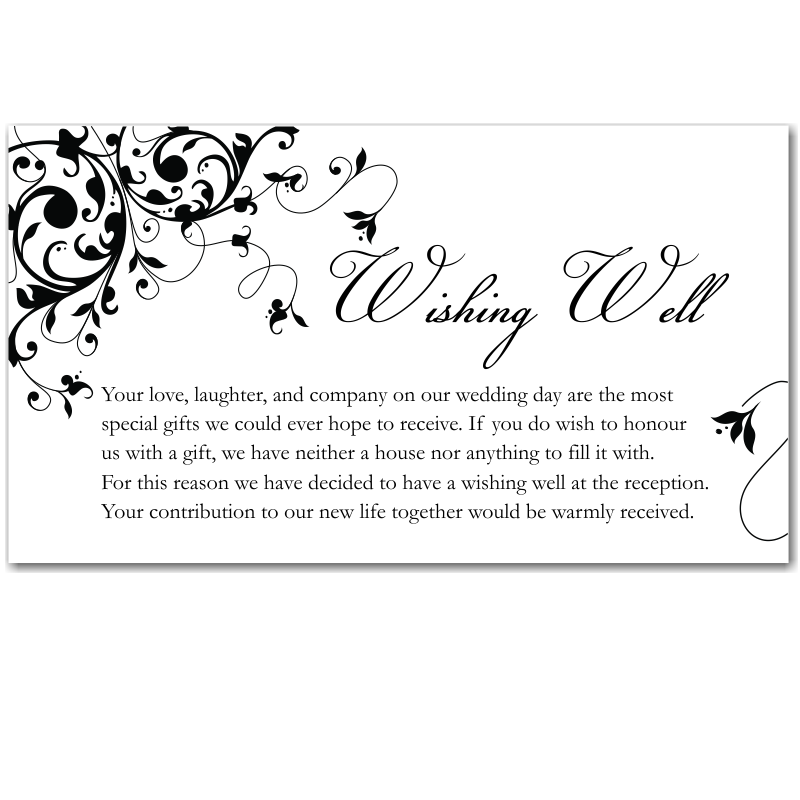 Image Result For Wedding Invitation Wishing Well Wording