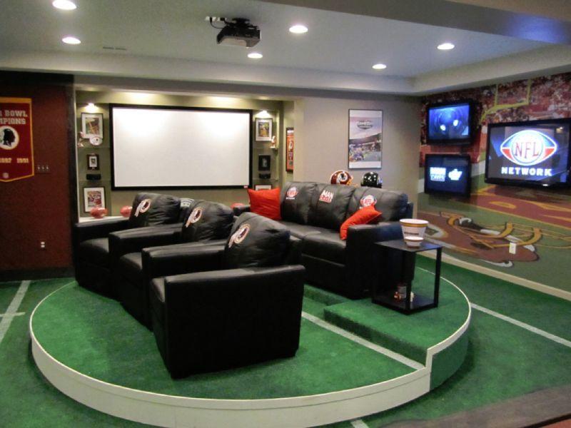 Stadium Seating Man Cave Home Bar Football Man Cave Man Cave Design #stadium #seating #living #room