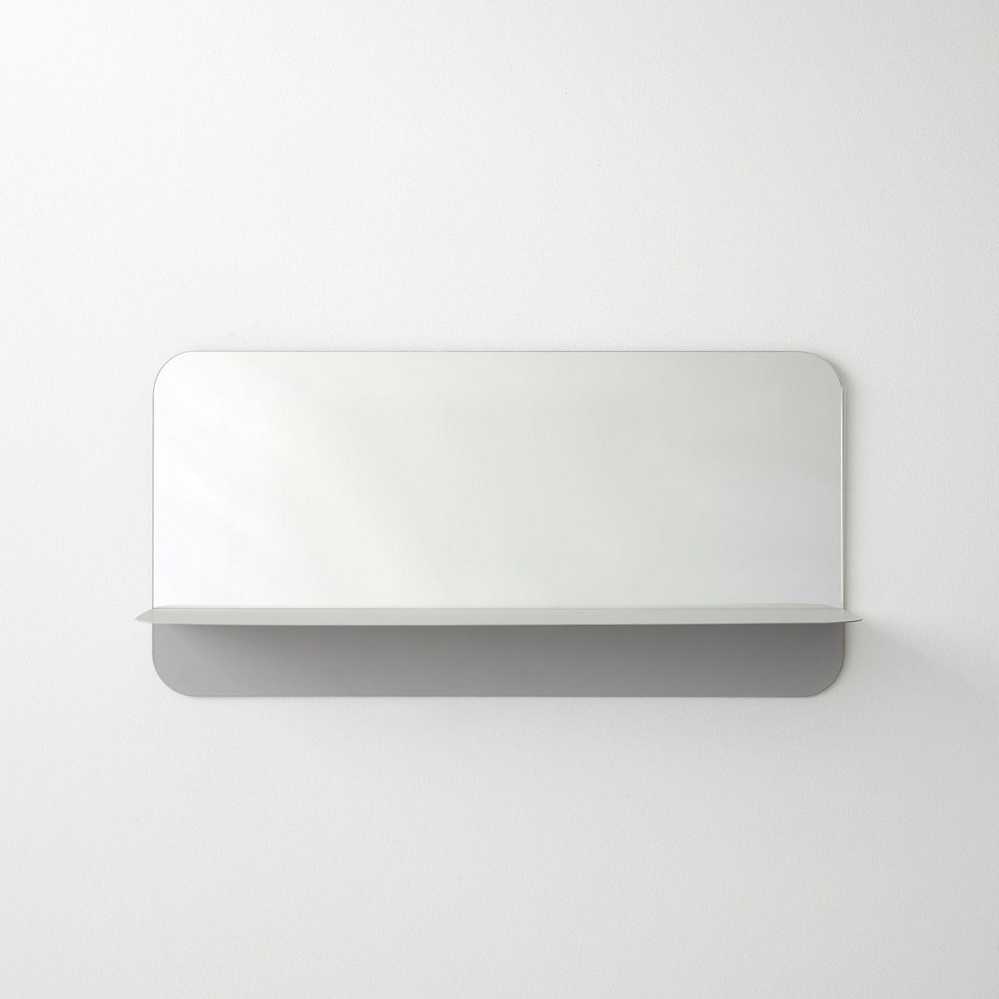 Horizon Gray Horizontal Wall Mirror