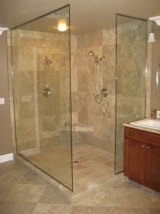 Open Shower With 3 Estate Panels Orb Cl 3 Home